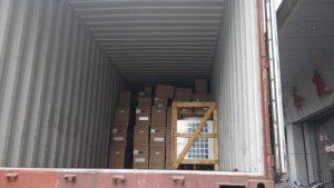 Nhâp hàng, trước khi chuyển hàng ra cảng