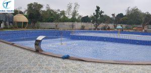Đi vào hoàn thiện bể bơi