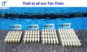 Kích thước thanh thoát tràn bể bơi