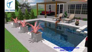 Thiết kế bể bơi Tân Thiên