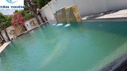 Công trình bể bơi gia đình anh Chánh