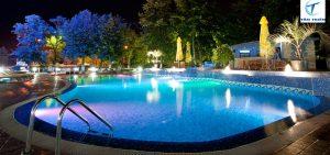 Đèn led bể bơi vào ban đêm